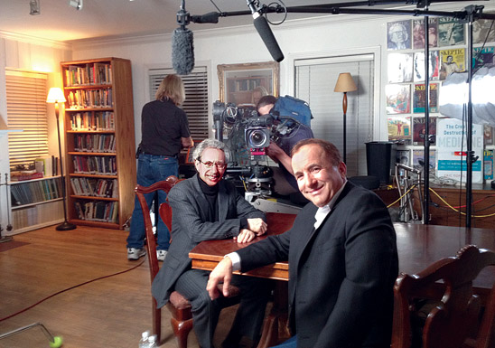 Michael Shermer being interviewed for television
