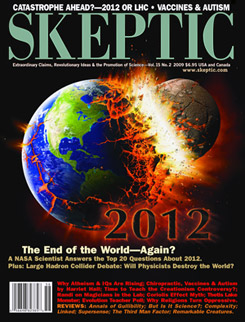 Skeptic magazine cover (Vol. 15 #2)