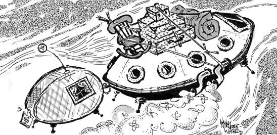 UFO illustration by Nancy White
