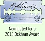 MonsterTalk is a 2013 Ockham Award Nominee
