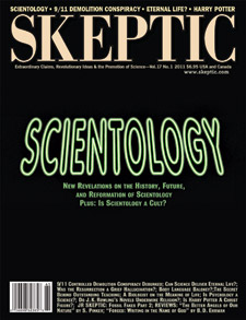 The Skeptic magazine back issue on Scientology (issue 17.1 cover)