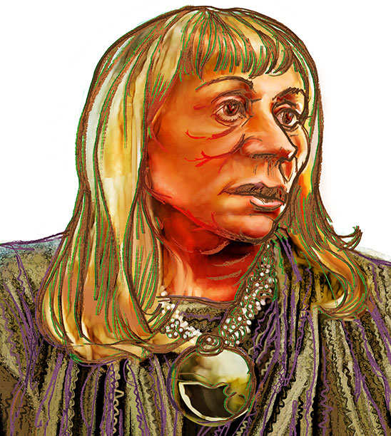 Sylvia Browne illustration (copyright 2013 by Pat Linse)