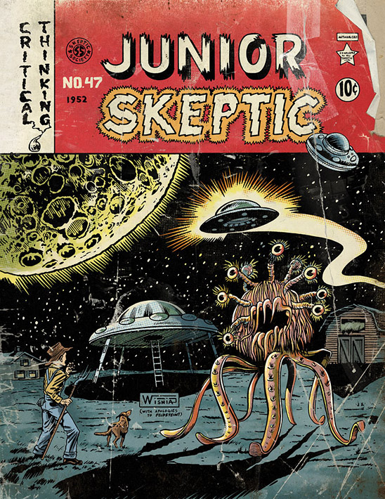 Image by Chris Wisnia and Daniel Loxton from the cover of Junior Skeptic # 47 bound within Skeptic magazine 18.2. All rights reserved.