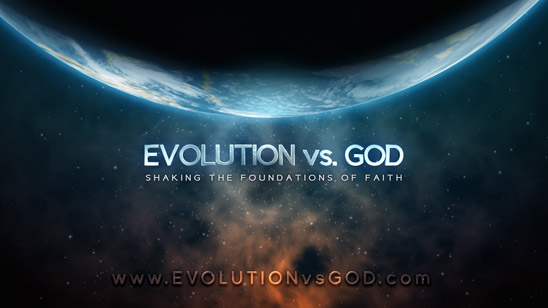 Evolution vs. God: Shaking the Foundations of Faith (banner)
