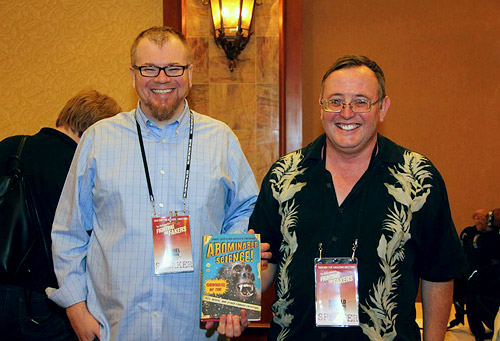 Daniel Loxton (left) and Donald Prothero (right) at The Amazing Meeting 2013 (Photo by David Patton)