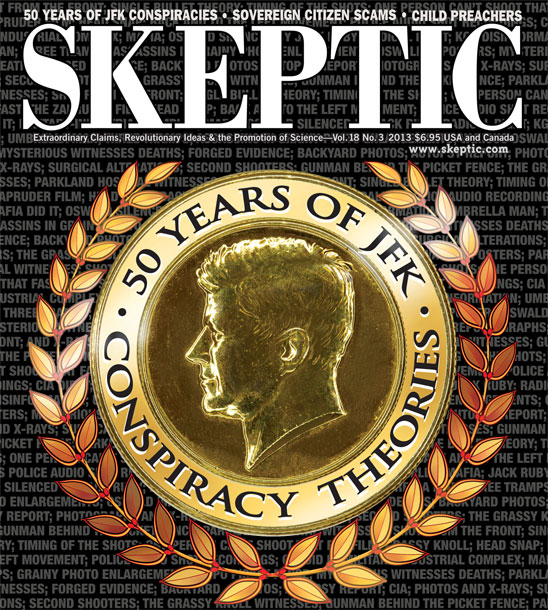 Skeptic magaine 18.3 (Fifty Years of JFK Conspiracy Theories), available in print and digital formats