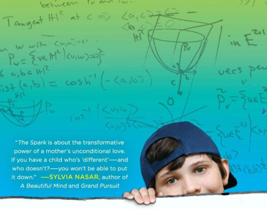 The Spark: A Mother's Story of Nurturing Genius (detail of book cover)