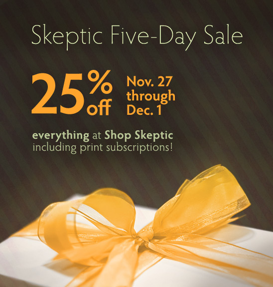 Skeptic 5-day sale on now through December 1, 2013 (PST)