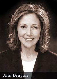 Ann Druyan, wife and collaborator of the late Dr. Carl Sagan (photograph by Ron Luxemburg)