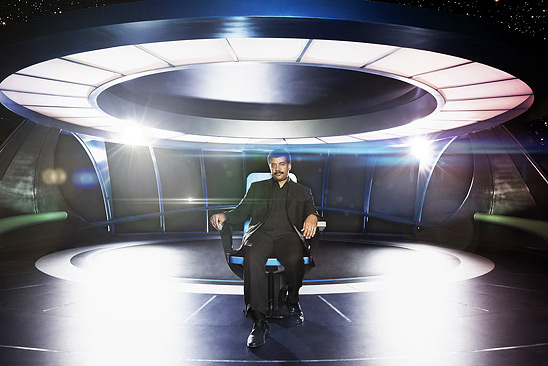 Neil deGrasse Tyson on Cosmos: A Spactime Odyssey. Copyright 2014 FOX BROADCASTING. Credit: Patrick Eccelsine/FOX