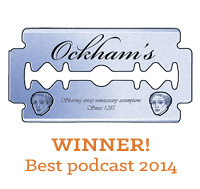 Skepticality is the winner of the 2014 Ockham's Razor Award for Best Podcast!