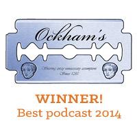 Skepticality is the winner of the 2014 Ockham's Razor Award for Best Podcast!