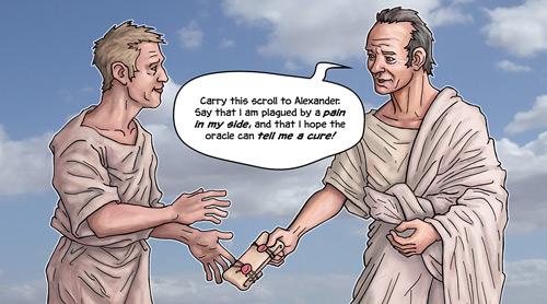 Lucian hands scroll