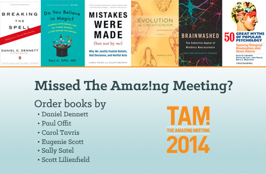 Order books from The Amazing Meeting 2014
