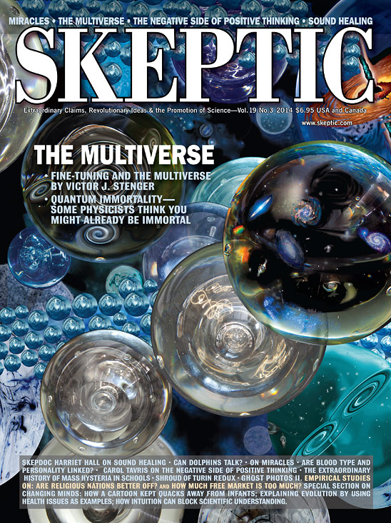 Skeptic magaine 19.3 (The Multiverse), available digitally now and for pre-order in print from Shop Skeptic