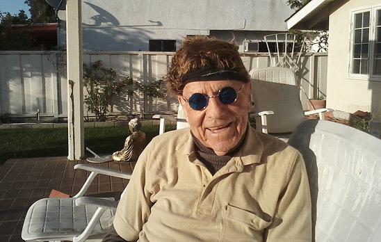 Gerald Larue with funny wig