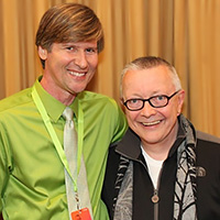 Sheldon Helms (left) with Chip Coffey (right)