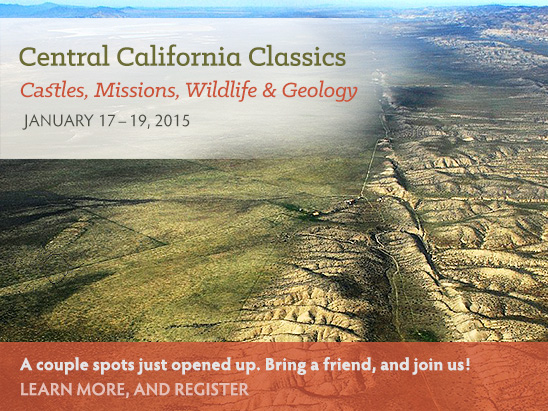 A couple spots just opened up for our January tour of Central California. Bring a friend and join us!