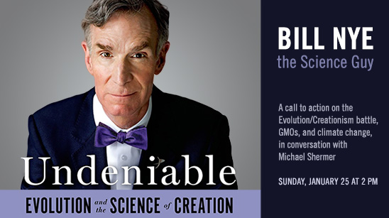See Bill Nye this Sunday at Caltech. Order tickets by phone or online.