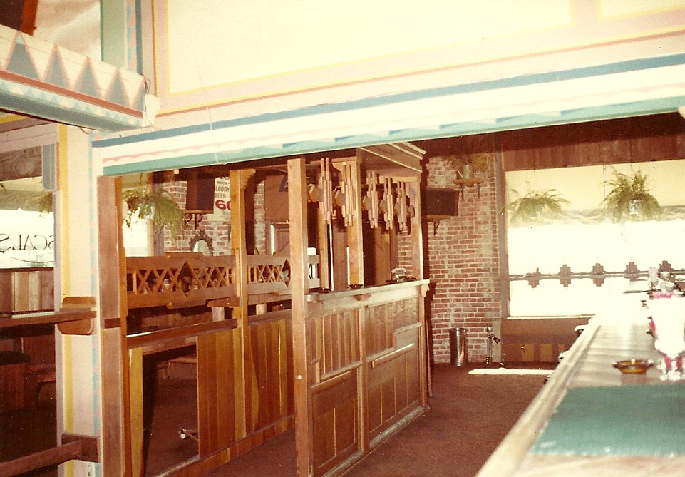 Another view shows Rascals beautiful redwood carpentry.