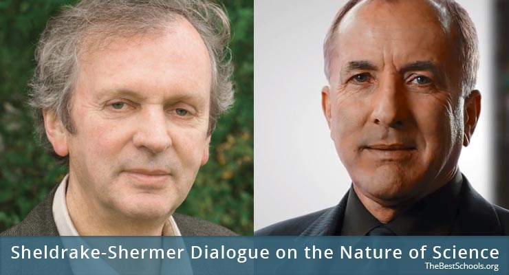 Rupert Sheldrake (left), Michael Shermer (right)