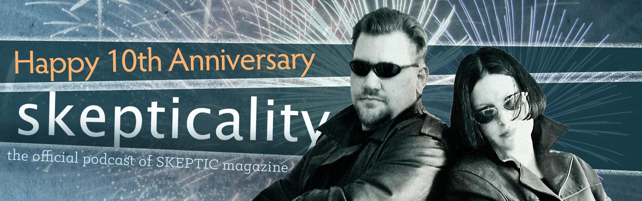 Skepticality logo (Happy 10th Anniversary!)