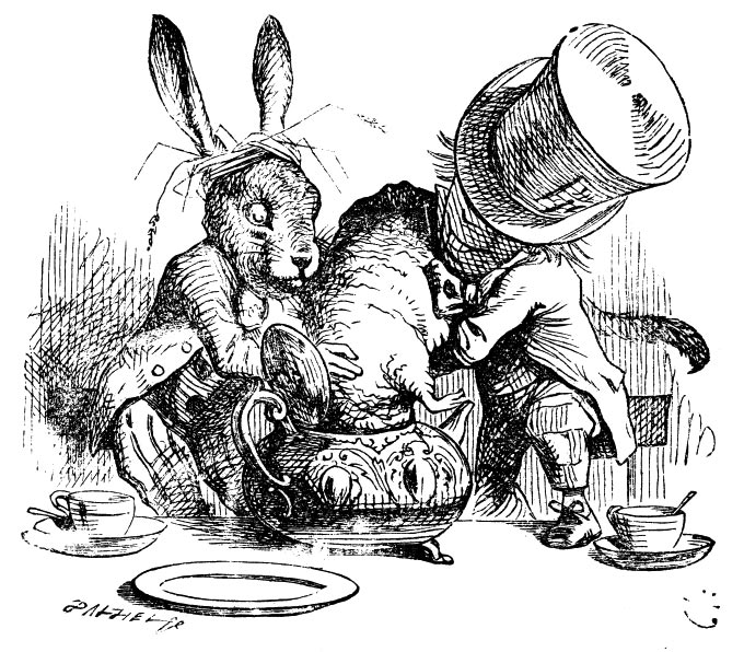 Illustration by John Tenniel, from Alice in Wonderland