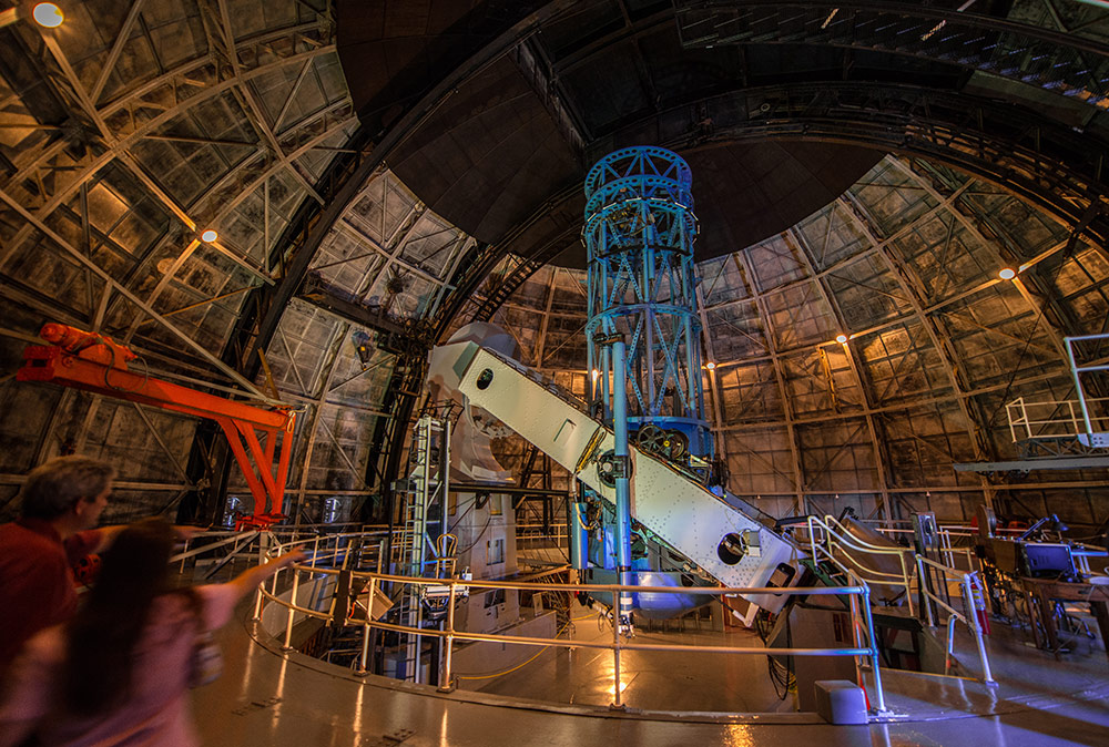 "The 100-inch telescope on Mt. Wilson was the instrument used by Edwin Hubble to discover that the Milky Way was just one of countless ""island universes,"" or independent galaxies, as well as the fact that the universe is expanding."