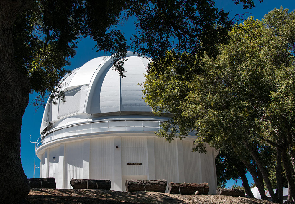 The 60-inch Telescope, activated in 1908, was the largest in the world at the time. It established the basic design of modern reflector telescopes. In addition, It pioneered spectroscopic analysis, parallax measurements, nebula photography, and photometric photography, it was used to measure the size of the Milky Way Galaxy and our position in it. It can now be rented for an evening of viewing by the public. (Photo credit: Ron Constable)