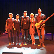 Frankie Moreno and his band, with Jennifer Shermer
