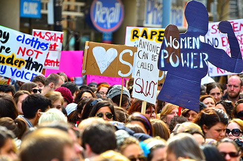 The first SlutWalk in Toronto, Ontario, April 3, 2011 (Photo by Anton Bielousov (Own work: Slutwalk (Toronto, ON)) [CC BY 3.0], via Wikimedia Commons)