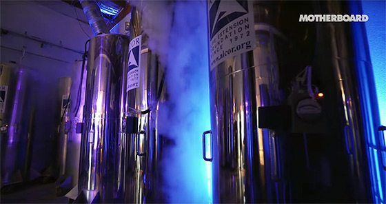 Screenshot from Frozen Faith: Cryonics and the Quest to Cheat Death (MOTHERBOARD)