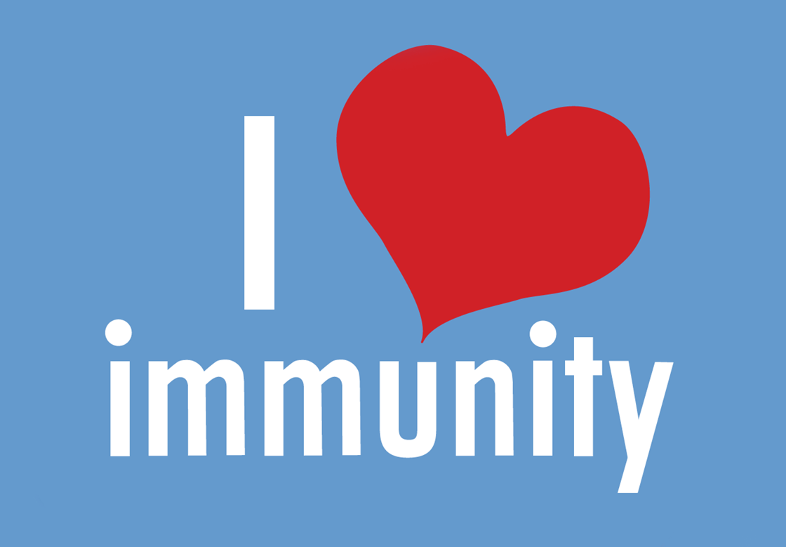 I love immunity (poster by vaccinatecalifornia.org)