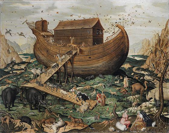 Noahs Ark Oil On Canvas By Simon De Myle Fl 1570
