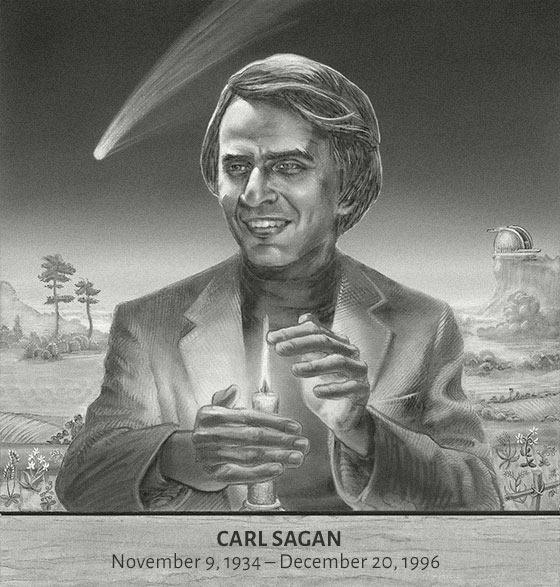 Carl Sagan (by Pat Linse, with W. Bull)