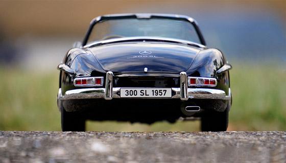 old black Mercedes