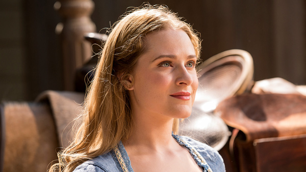 Dolores Abernathy played by Evan Rachel Wood (image courtesy of HBO)