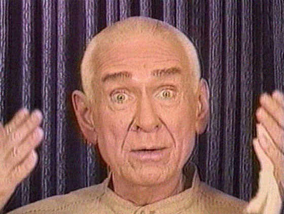 An image of Marshall Applewhite during a video broadcast produced by Heaven's Gate (religious group) [https://en.wikipedia.org/wiki/File:Marshall_Applewhite.jpg]
