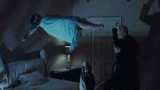 Levitation scene from The Exorcist (1973)
