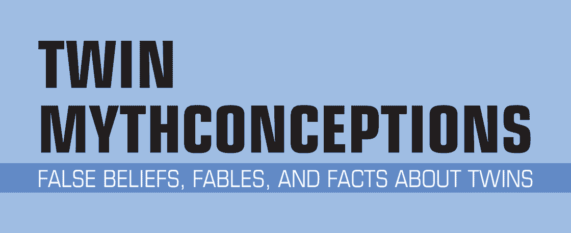 Twin Mythconceptions: False Beliefs, Fables, and Facts about Twins (book cover detail)
