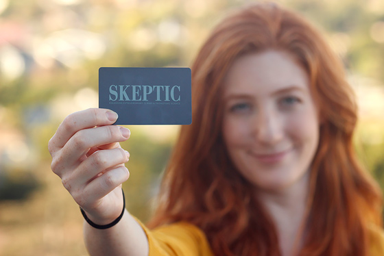Let the world know that you are a Card-Carrying Skeptic.
