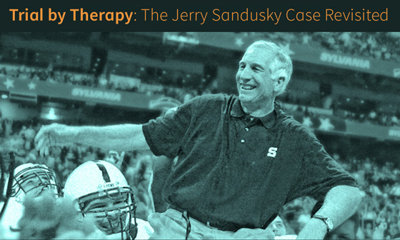 The Most Hated Man in America: Jerry Sandusky (modified detail of book cover)