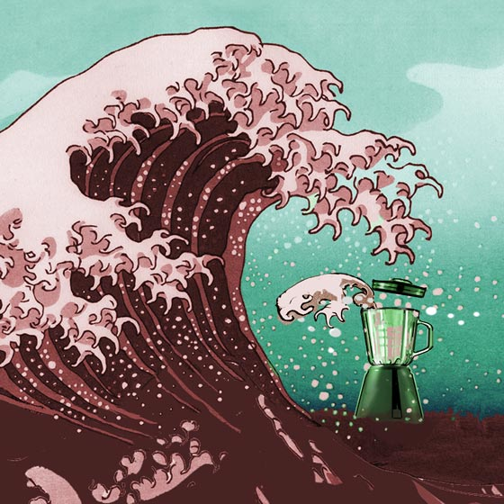 great wave of juice illustration