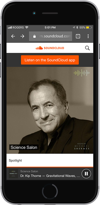 Listen to Science Salon Everywhere and Anywhere