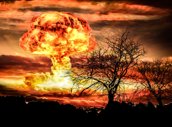 computer render of nuclear bomb explosion