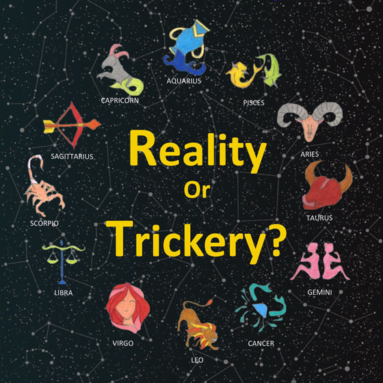 Horoscopes: Reality or Trickery? (detail of bookd cover)