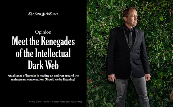 Meet the Renegades of the Intellectual Dark Web (photo by Damon Winter -- The New York Times)