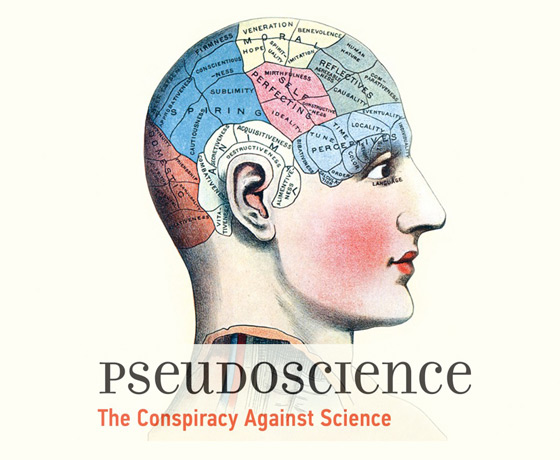 Pseudoscience: The Conspiracy Against Science (reassembled details of book cover)