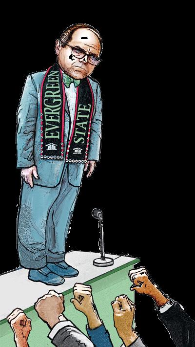 Illustration of President of Evergreen State College, George S. Bridges