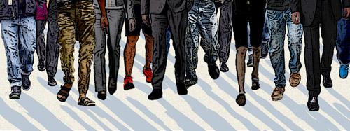 Illustration: marching feet
